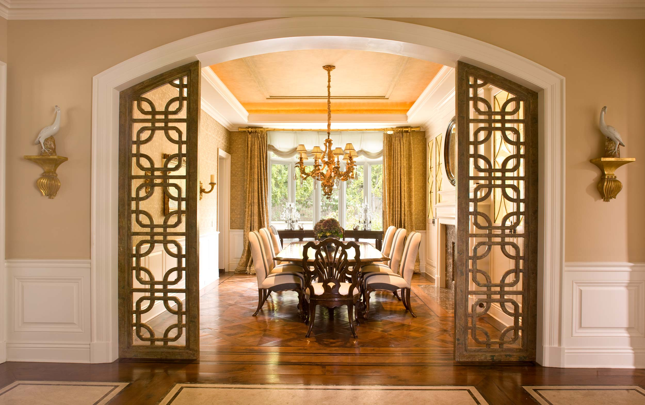 Formal Dining Room with a grand entrance