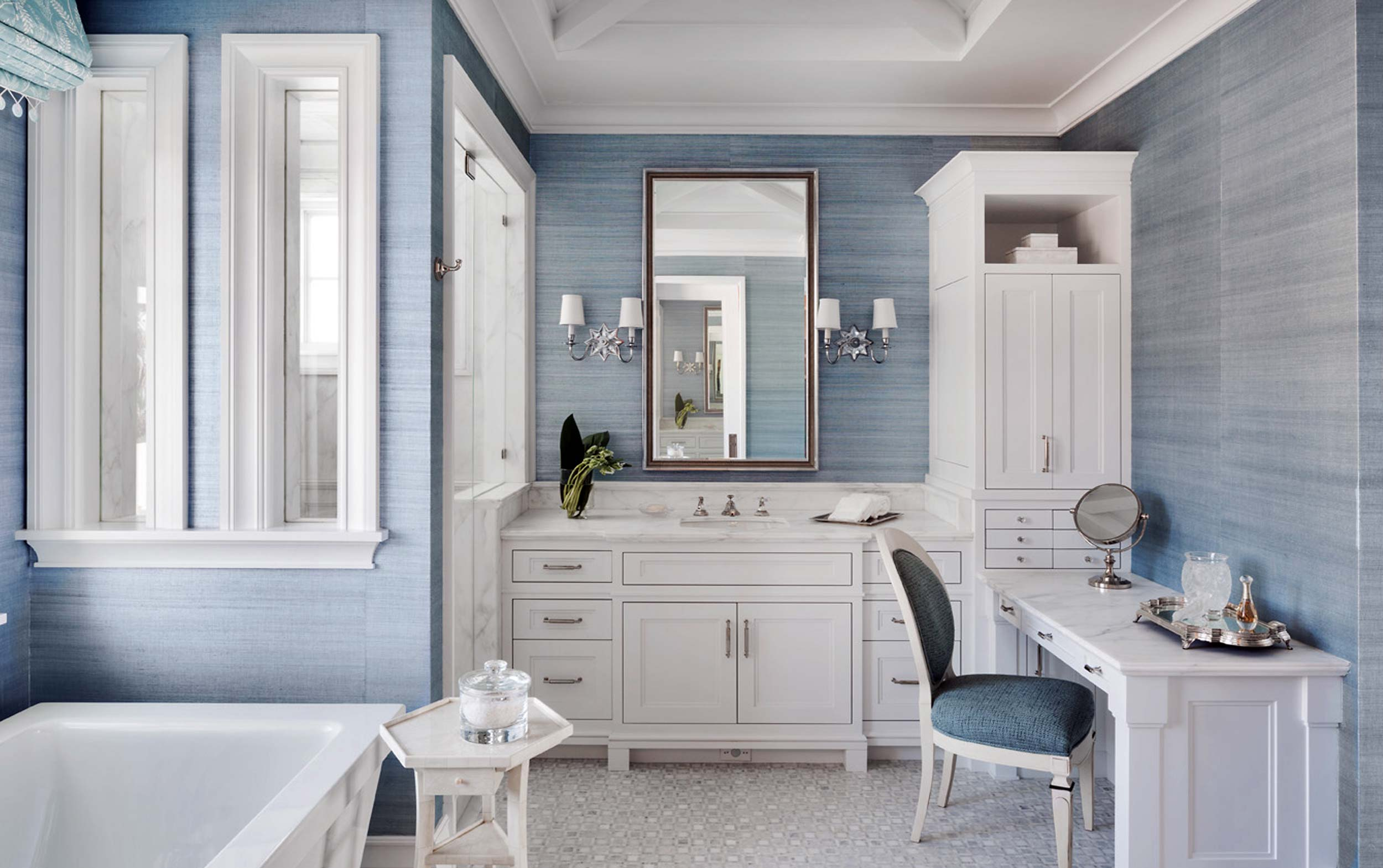 powder blue guest bathroom